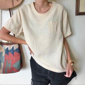 Vintage Basic Silk & Linen Top